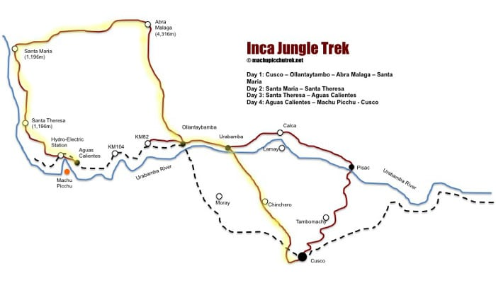 inca-jungle-trek-map