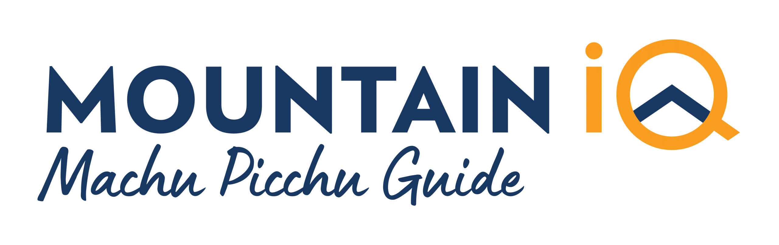 machu picchu trek mountain iq logo